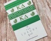 Kappa Delta Hair Ties; Sorority Hair Ties; Sorority Recruitment; KD, Sorority Big Little; Sorority Gift; Kappa Delta Accessories