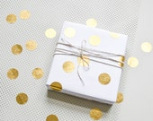 Gold dots, gold stickers, christmas sticker, gift wrap christmas, metallic stickers, holiday stickers
