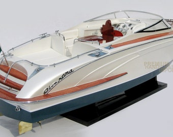 """Rivarama Platinum Painted Handcrafted Wooden Model Boats 26"""""""