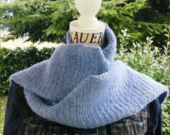 Man scarf sky Herringbone Stitch