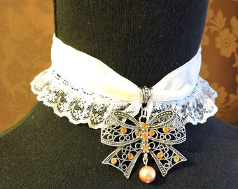 Velvet Choker, Victorian choker, Lolita choker, Victorian Wedding Collar,Choker necklace,Choker with pendant,Lace choker,Victorian Jewellery