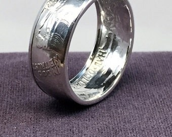 1942 Walking Liberty Silver Coin Ring