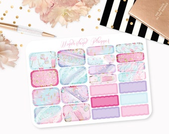 Sweet Treats - Cotton Candy Cupcakes Themed Planner Stickers // Half Box Designs // Perfect for Erin Condren Vertical Life Planner