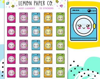M021 Laundry // Kawaii Planner Stickers
