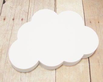 White Cloud Cutouts-Weather Shapes-Baby Shower Decor-Advice Cards-Classroom Decorations-Kids Craft Projects-Scrapbook Cutouts-Paper Clouds
