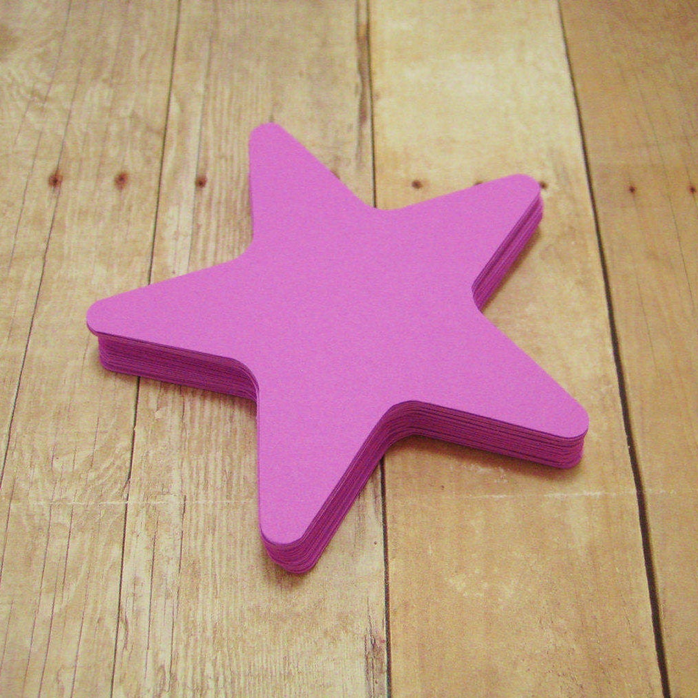 cardstock stars starfish shapes purple star cutout scrapbook