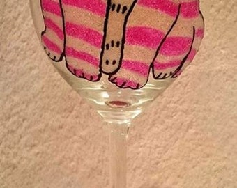 Hand Decorated Glitter Glass - Bagpuss Inspired Glass