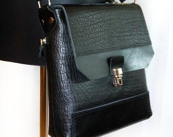 Man  Leather Crossbody Bag. Leather messenger bag .Bags for man. Genuine leather handbag .Leather iPad bag, Crossbody bag purse