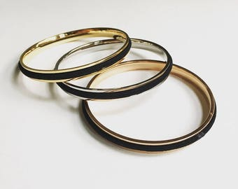 VOGUE FEATURED Hair Tie Bracelet Bangle Design Hair Tie Cuff Hair with Elastic Gold Silver or Rose Gold