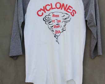 vintage favorite tshirt cyclones home at the dome 1984