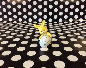 Yellow Fellow~Easter Bunny with Egg~Vintage Easter~Figurine