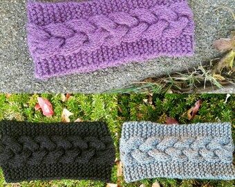 Cable Knit Braided Headband Earwarmer