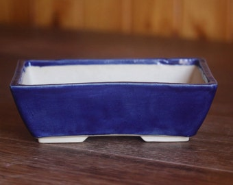 Cobalt Blue Planter Etsy