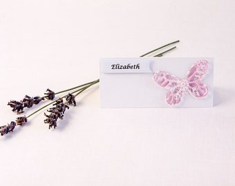 Butterfly Place Cards - Wedding Place Cards - Pink Wedding - Place Cards - Wedding Place Names - Butterfly Wedding