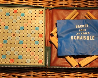Of luxury travel Vintage Scrabble / board game / Scrabble Vintage / board game / French language Scrabble / Scrabble french