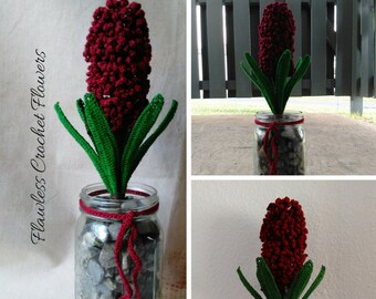 Hyacinth Crochet Flower, Crochet Flowers, DIY Wedding Flowers