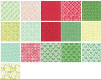 SALE! Pears and Hearts - Layer Cake - MODA - Kate Spain - North Woods - NOT Christmas Fabric!