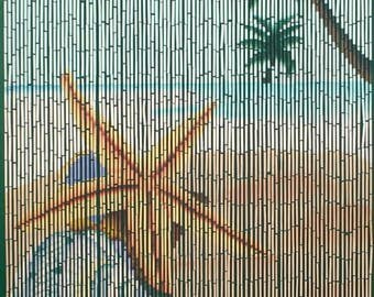 Star Fish Beach Bamboo Beaded Curtain