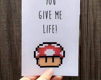 You give me life! Mario Card