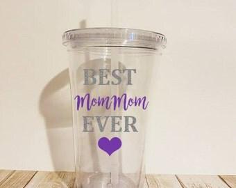 Best MomMom Ever, MomMom Tumbler, Gift for MomMom, MomMom Gifts, Grandmom Tumbler, Grandma Tumbler