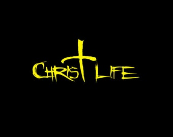 CHRIST LIFE WINDOW Decal, Religious sticker, Cup decal, Christian Sticker, Church
