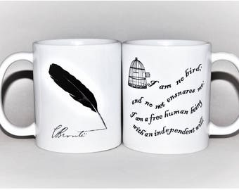 Jane Eyre mug Charlotte Bronte mug  by TattooMugLady bronte gift for her mr rochester for her mother's day mug