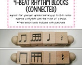 4-Beat Rhythm Blocks (Connected)