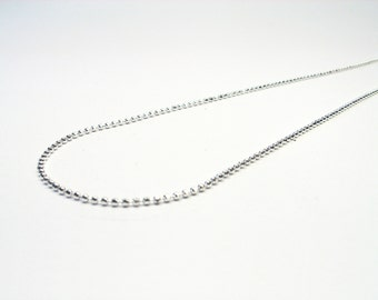 Silver ball chain faceted Sterling Silver 925