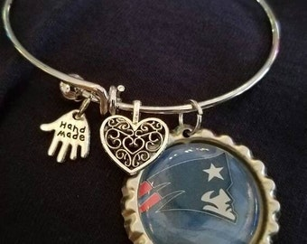 New England Patriots bangle bracelet