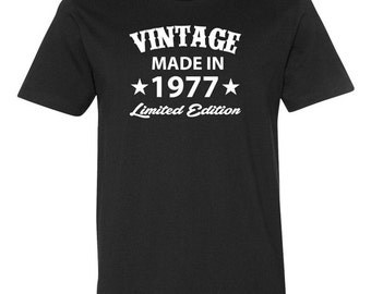 Born In 1977 (Any Year) 40 Years Old Gifts For 40th Birthday Gift For Men 40th Birthday TShirt 40th Birthday Present Mens Ladies Tee - JM226