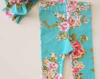 baby leggings - floral baby clothes - coming home - baby girl clothes - newborn clothing - newborn outfit - baby girl outfit - baby outfits