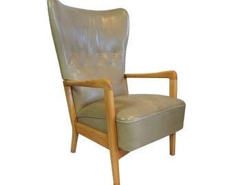 Danish Vintage Leather Lounge Chair - Søren Hansen for Fritz Hansen