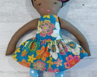 "Harper - Handmade rag doll, 38cm (15""), fabric doll, cloth doll, gifts for girls."