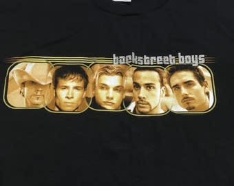 Vintage Backstreet Boys Long Sleeve Shirt - 90s BackStreet Boys Shirt - Backstreet Boys Long Sleeve Shirt - Into The Millennium Tour 90s BSB