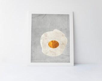 Minimalist print, egg print, minimalist egg, printable art, minimalist art, downloadable art, printable gift, modern art, egg, minimal art