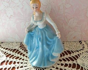 Gracefull Blue Lady Figurine