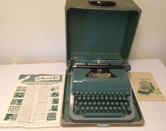 Vintage 1955 Underwood Universal Quiet Tab Portable Typewriter & Case, Vintage Typewriter, Antique Typewriter, Underwood Typewriter, Office