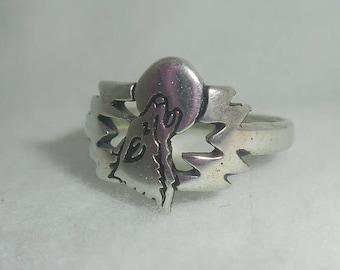 Vintage Howling Wolf Ladies' Ring