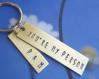 Present for Boyfriend, Birthday Gift for him, Best Friend Birthday Gift custom key chain Personalized Anniversary Gift Idea 1 year 10 year