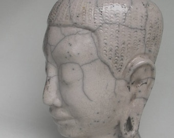 Ceramic bouddha unique piece Ceramic raku