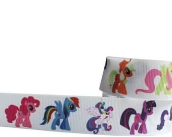 "1"" Pony Grosgrain Ribbon by the Yard J6"