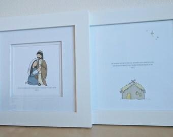 Minimalist Nativity Prints