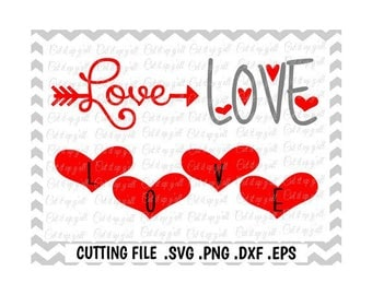 Love Svg Bundle, Love Arrow, Love Hearts, SVG PNG-Dxf-Eps, Cutting Files For Silhouette Cameo/ Cricut and More.