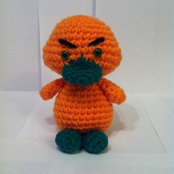 Duck Crochet Orange Duckling Amigurumi Duckling Handmade