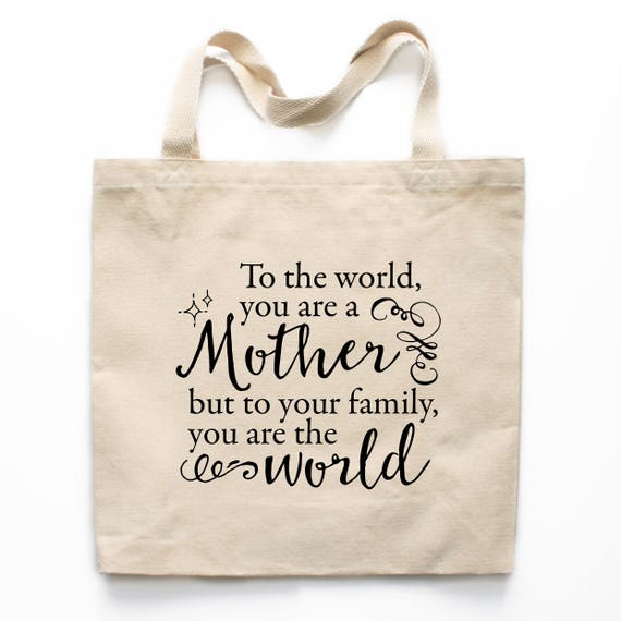 Mother's Day Gift Tote Bag, Mother's Day Canvas Bag, Canvas Tote Bag, Printed Tote Bag, Market Bag, Shopping Bag, Reusable Grocery Bag 0135