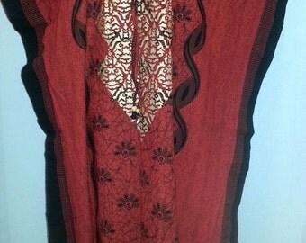 100% Cotton, High Quality, Women Hippie Boho Caftan Kimono Sleeve Cover up Summer Dress Kaftan Dress Maxi Long Gown Lounge Wear Free Size