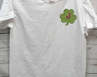 Shamrock Applique, Shamrock Shirt, St Pattys Day Shirts, shamrock shirts, mommy and me shirts, women's clothing, tops and tees, T-shirts,
