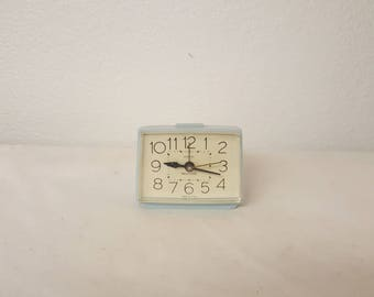 Retro Westclox,  electric alarm clock, Rare Blue Westclox, vintage alarm clock, blue alram clock,  westclox alarm clock, collectible clock,