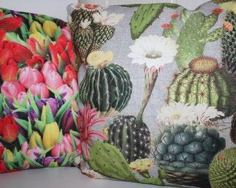 Cushion covers all sizes feasible-Kaktus - digital printing