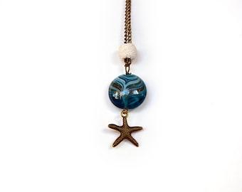 Aromatherapy Diffuser Pendant - Starfish